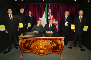 Signing the Good Friday Agreement