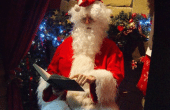 Santa reading a Christmas tale